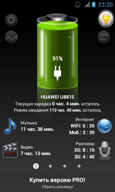 Лучшая батарея на Андроид