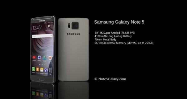 Неофициальный рендер Galaxy Note 5