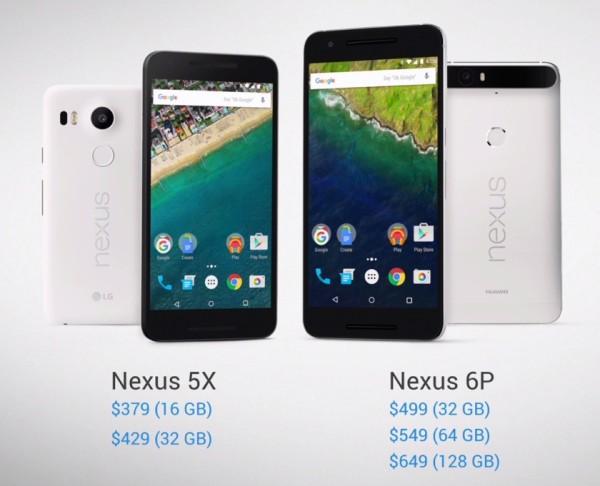 Nexus X5, Nexus 6P