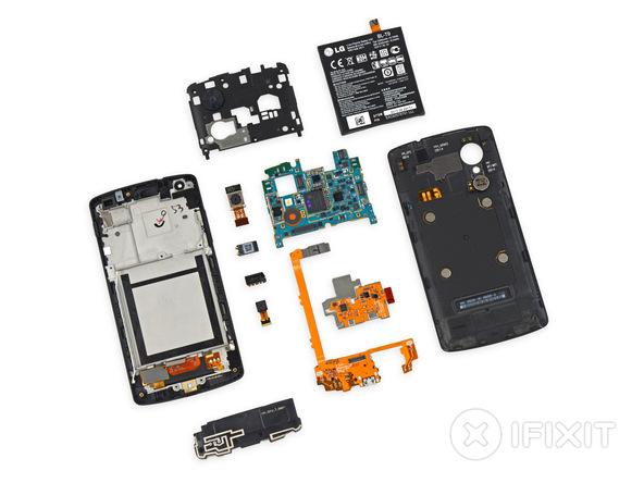 Nexus 5X тест на ремонтопригодность