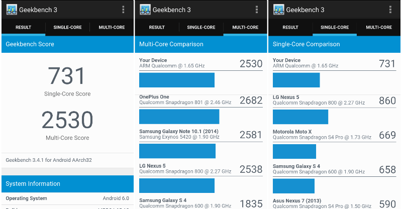 Geekbench 3: Moto X Play