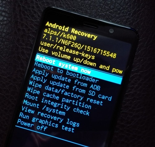 Recovery на Android 7