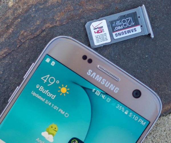 Galaxy S7 карта памяти