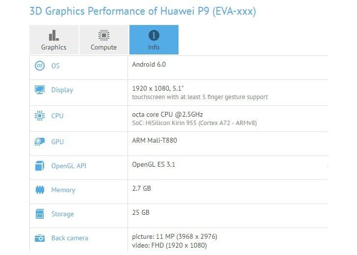 Huawei P9 характеристики