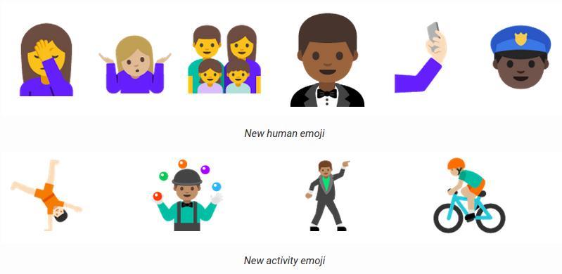 Эмоджи Android N