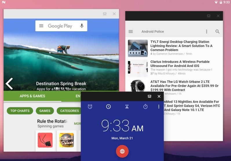 Многооконность Android N