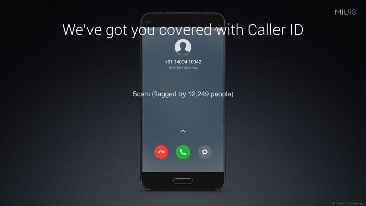 MIUI 8 Caller ID