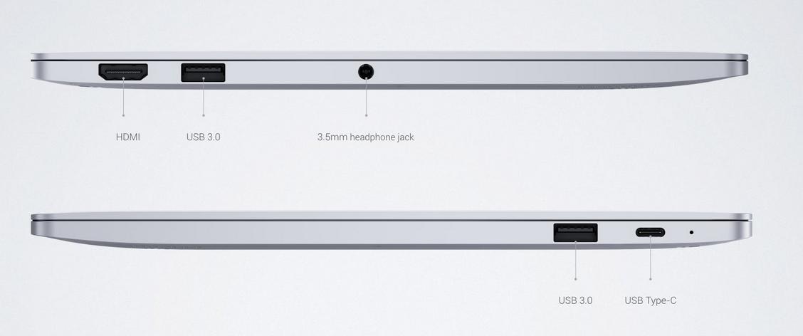 Xiaomi MI Notebook Air разъемы
