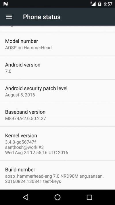 Nexus 5 Android 7
