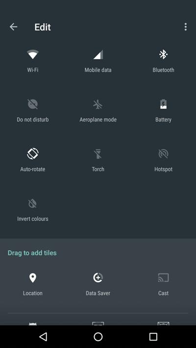 Быстрые настройки Android 7.0 Nougat