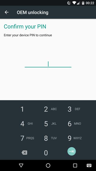 Заводская разблокировка в Android 7.0 Nougat