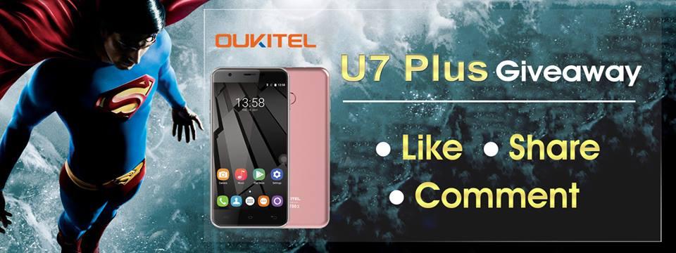 Розыгрыш смартфона Oukitel U7 Plus