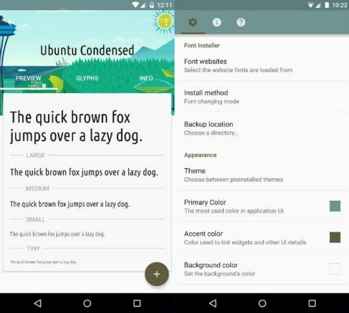 Программа для смены шрифта на Android