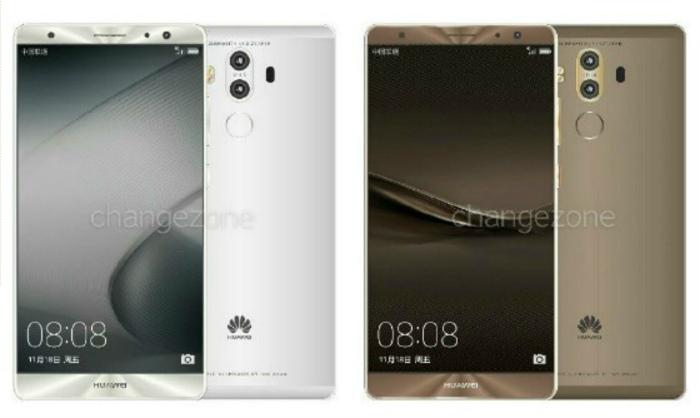 Три вида Huawei Mate 9 в 7-ми расцветках были продемонстрированы нарендерах