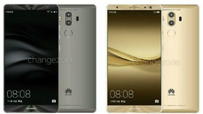 Появились рендеры Huawei Mate 9 с 2-мя камерами