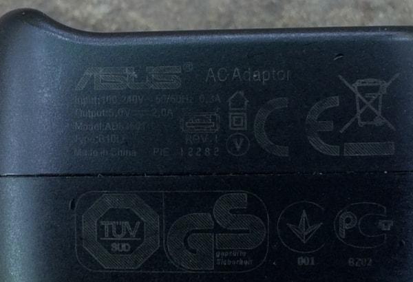 Блок зарядки ASUS 2.0A