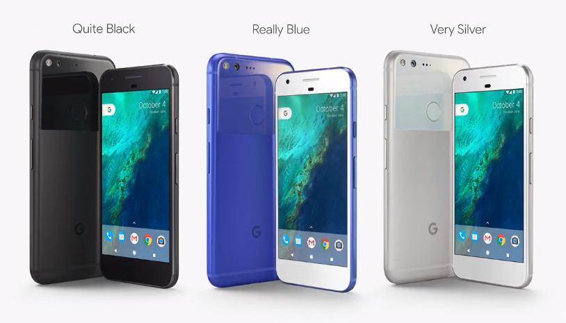 Google Pixel XL Цвета