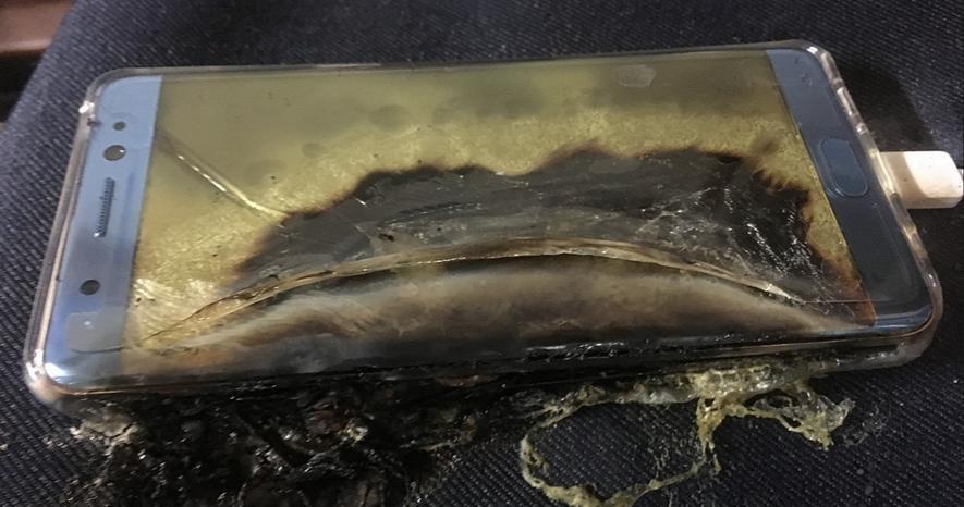 Сгоревший Galaxy Note 7