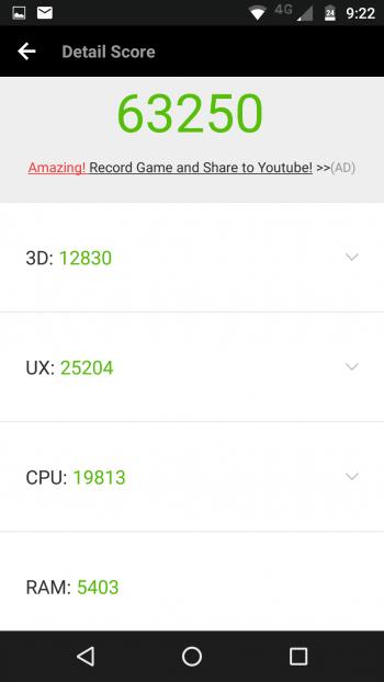 Moto Z Play в AnTuTu