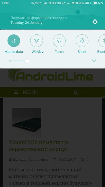 MIUI 8 на Xiaomi Redmi Note 4