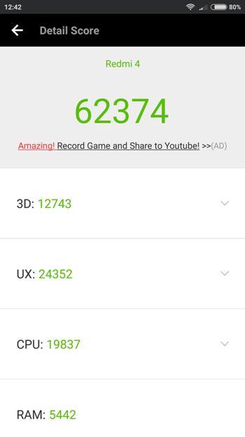 Xiaomi Redmi 4 Pro в AnTuTu