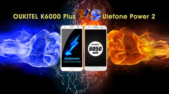 Oukitel K6000 Plus vs Ulefone Power 2