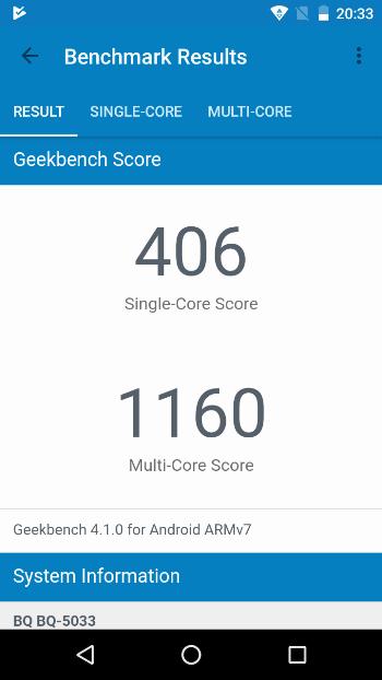 BQ Shark в Geekbench 4