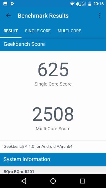 BQ Space в Geekbench 4