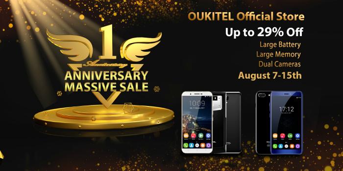 Oukitel anniversary sales