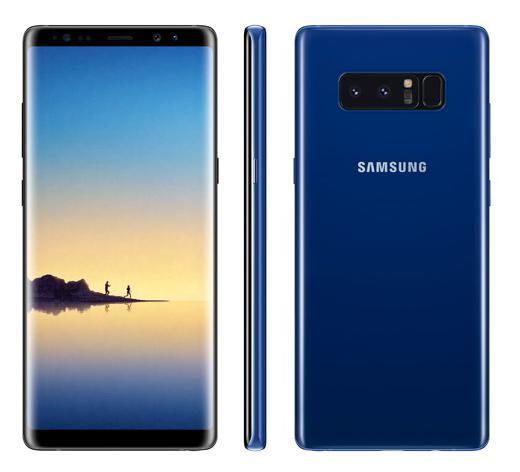 Синий Samsung Galaxy Note 8