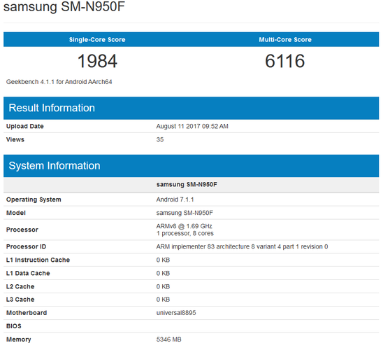 Европейская версия Самсунг Galaxy Note 8 оказалась немного мощнее американской