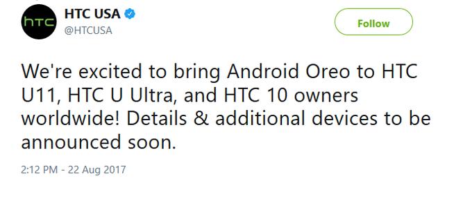твит от HTC