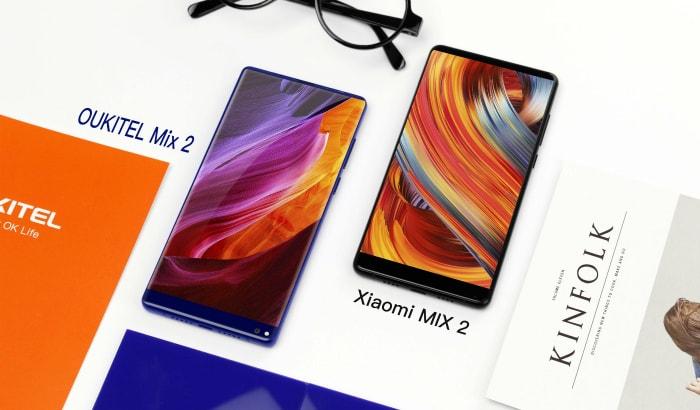 Oukitel представит сразу два безрамочных телефона: Mix 2 иC8