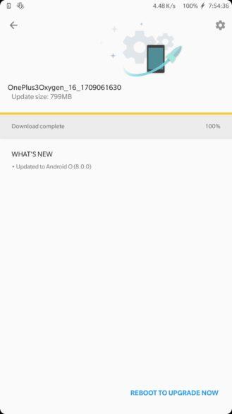 Обновление для OnePlus 3