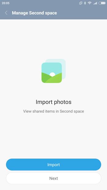 Импорт фотографий