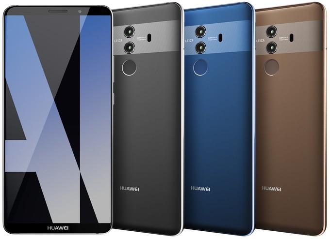 Huawei Mate 10 Pro выглядит прекрасно наофициальном изображении