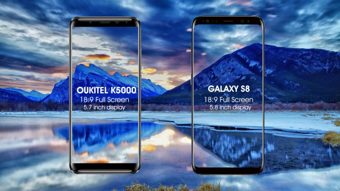 Oukitel K5000 и Samsung S8