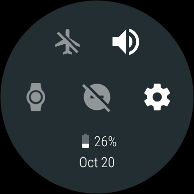Настройки Android Wear 2.0