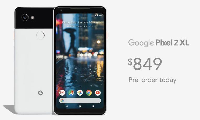 Цена Google Pixel 2 XL