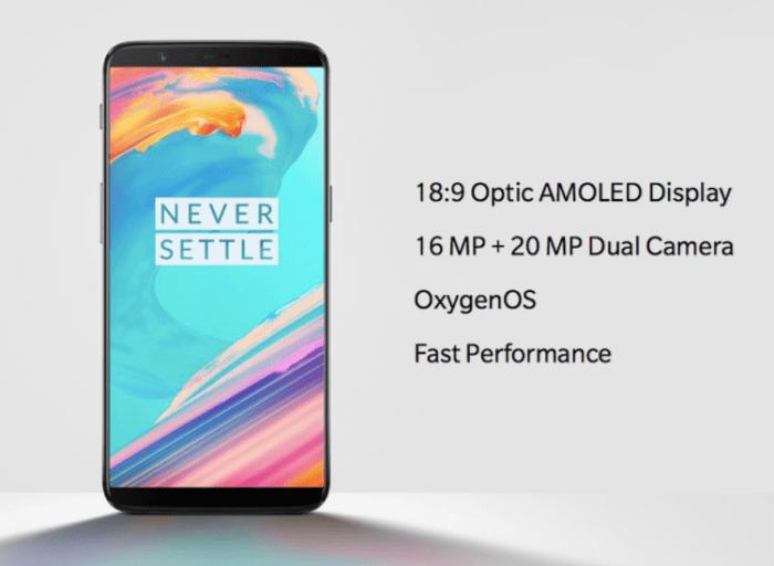 Характеристики OnePlus 5T