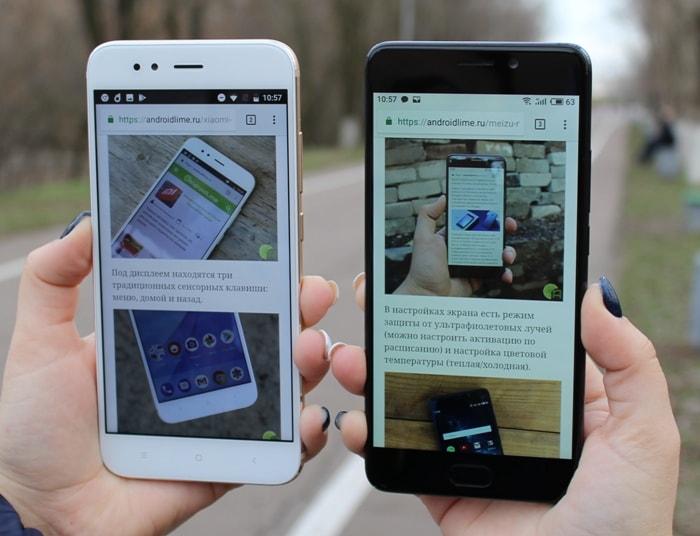 Экран Meizu M6 Note и Xiaomi Mi A1