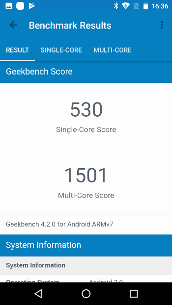 Fly Power Plus 2 в Geekbench