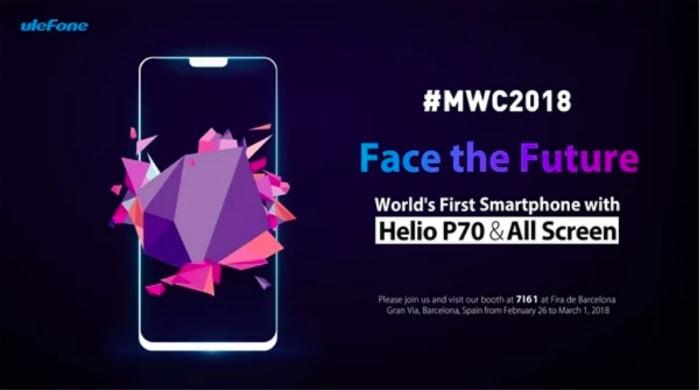 Смартфон Ulefone T2 Pro первым получит чипсет MediaTek Helio P70