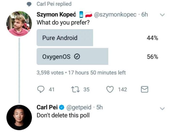 пост менеджера OnePlus