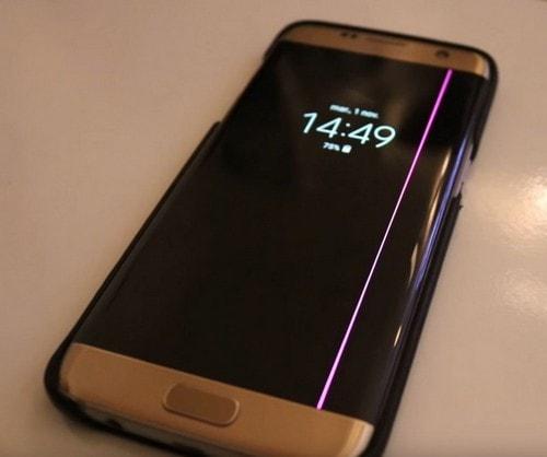 Розовая линия Galaxy S7 Edge