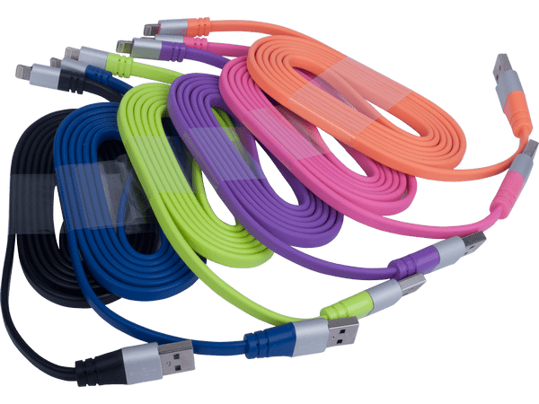 Разноцветные USB-кабеля