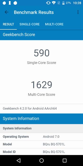 BQ-5701L Slim в Geekbench