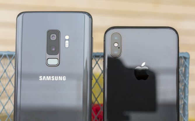 Galaxy S9 Plus и iPhone X