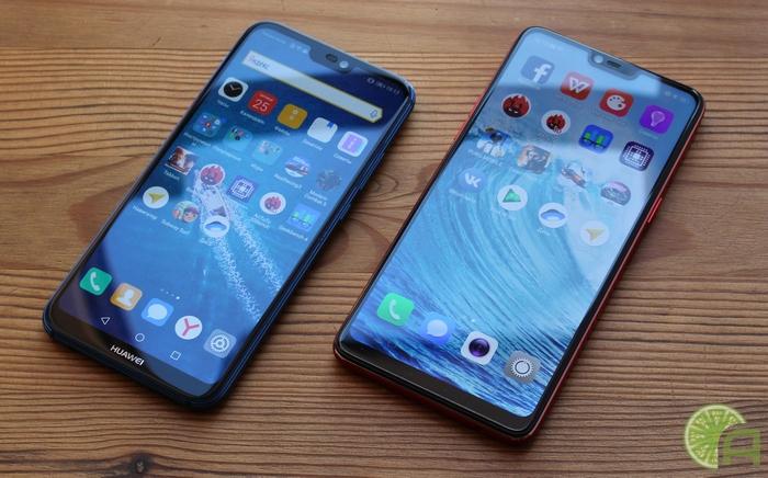 Сравнение OPPO F7 и Huawei P20 Lite