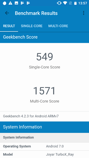 Turbo X Ray в Geekbench